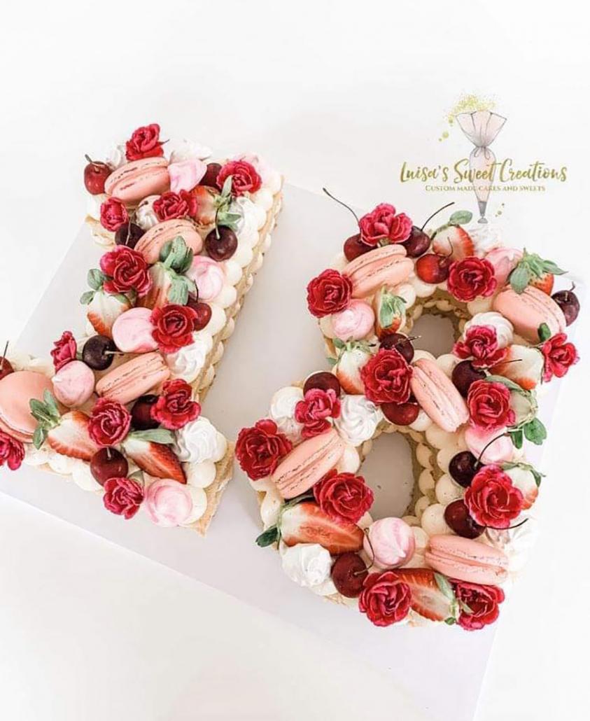Number 18 birthday cakeBrisbaneby Luisa's Sweet Creations
