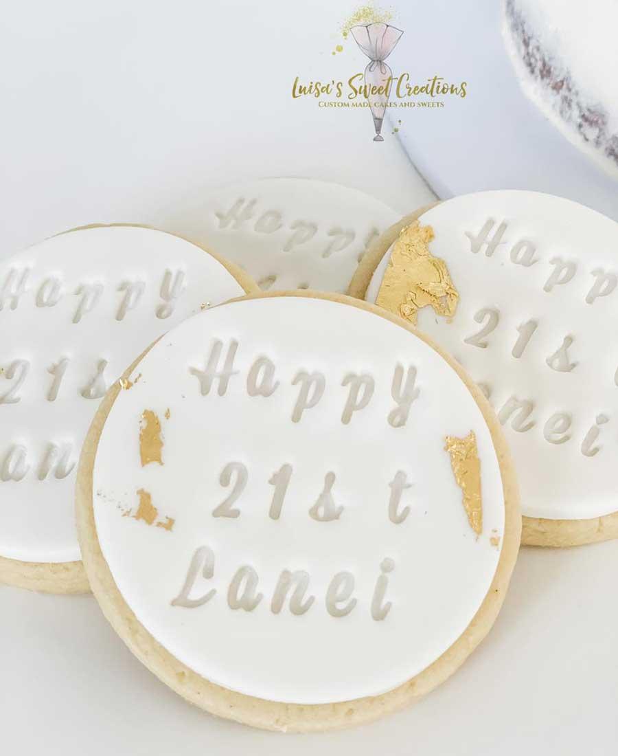 21st birthdaycookies Brisbane by Luisas Sweet Creations