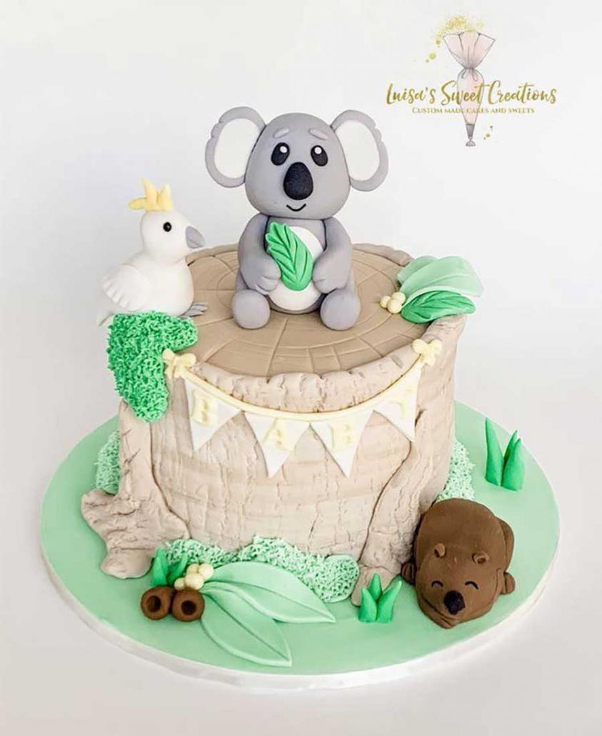 Australian animalbaby shower cake Brisbane by Luisas Sweet Creations