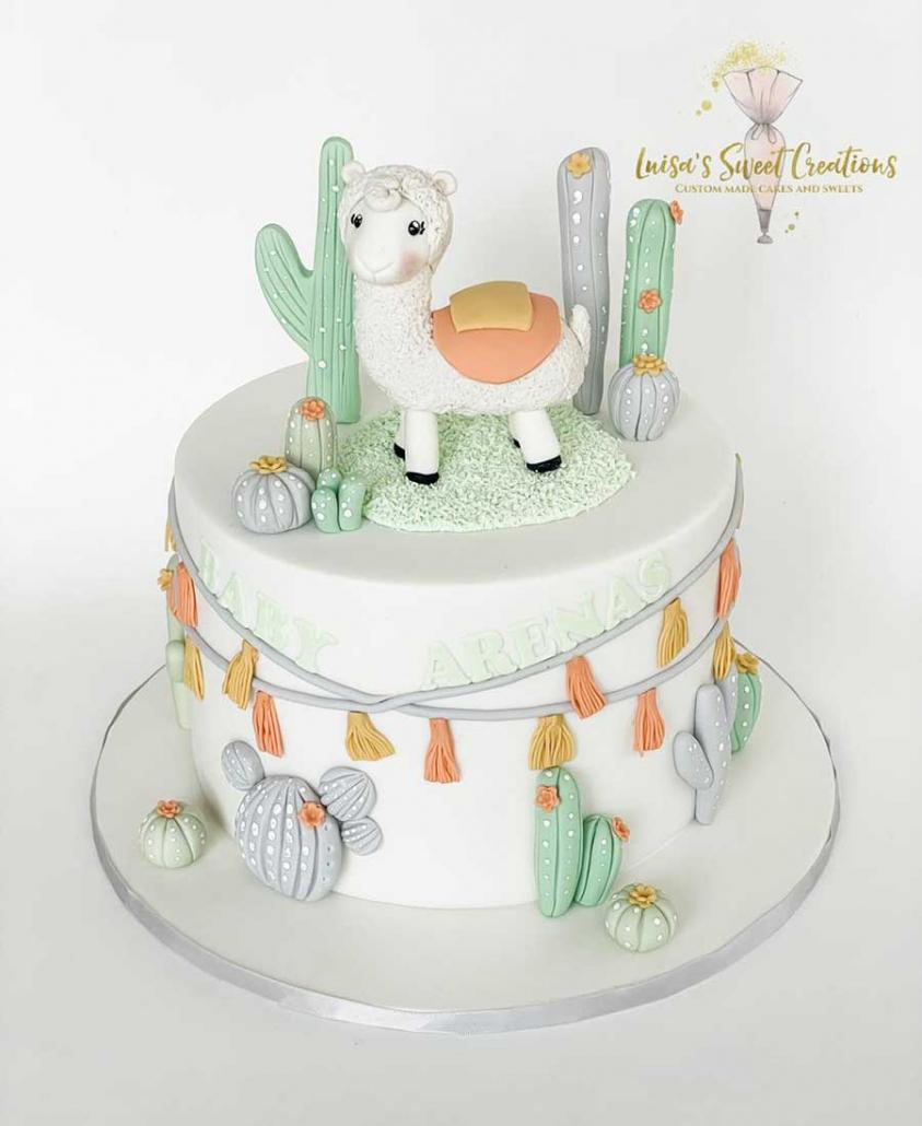 Llamababy shower cake Brisbane by Luisas Sweet Creations