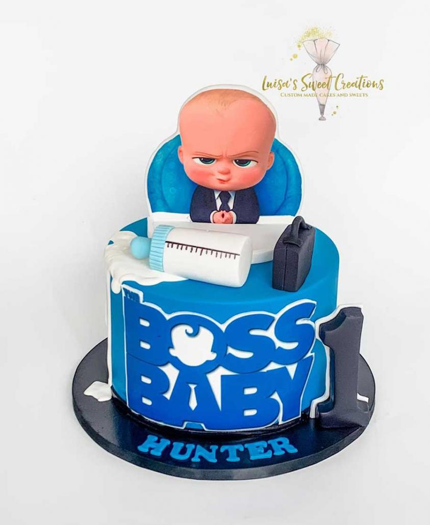 Boss baby themedfirst birthday cake Brisbane by Luisas Sweet Creations
