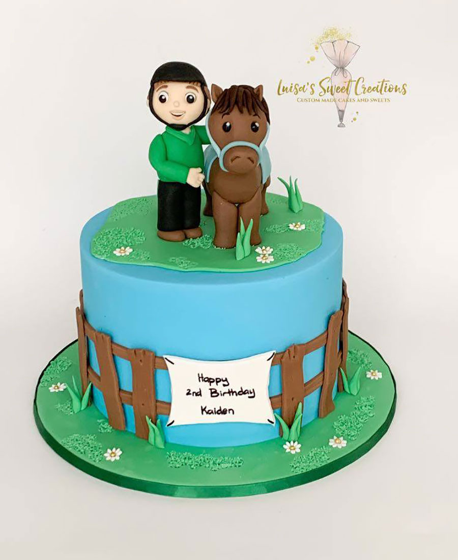 Boy and his horse birthday cakeby Luisa's Sweet Creations Brisbane