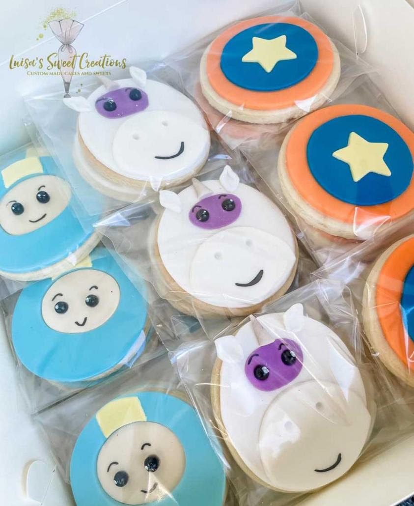 Go Jetter sugar cookies custom made by Luisas Sweet Creations