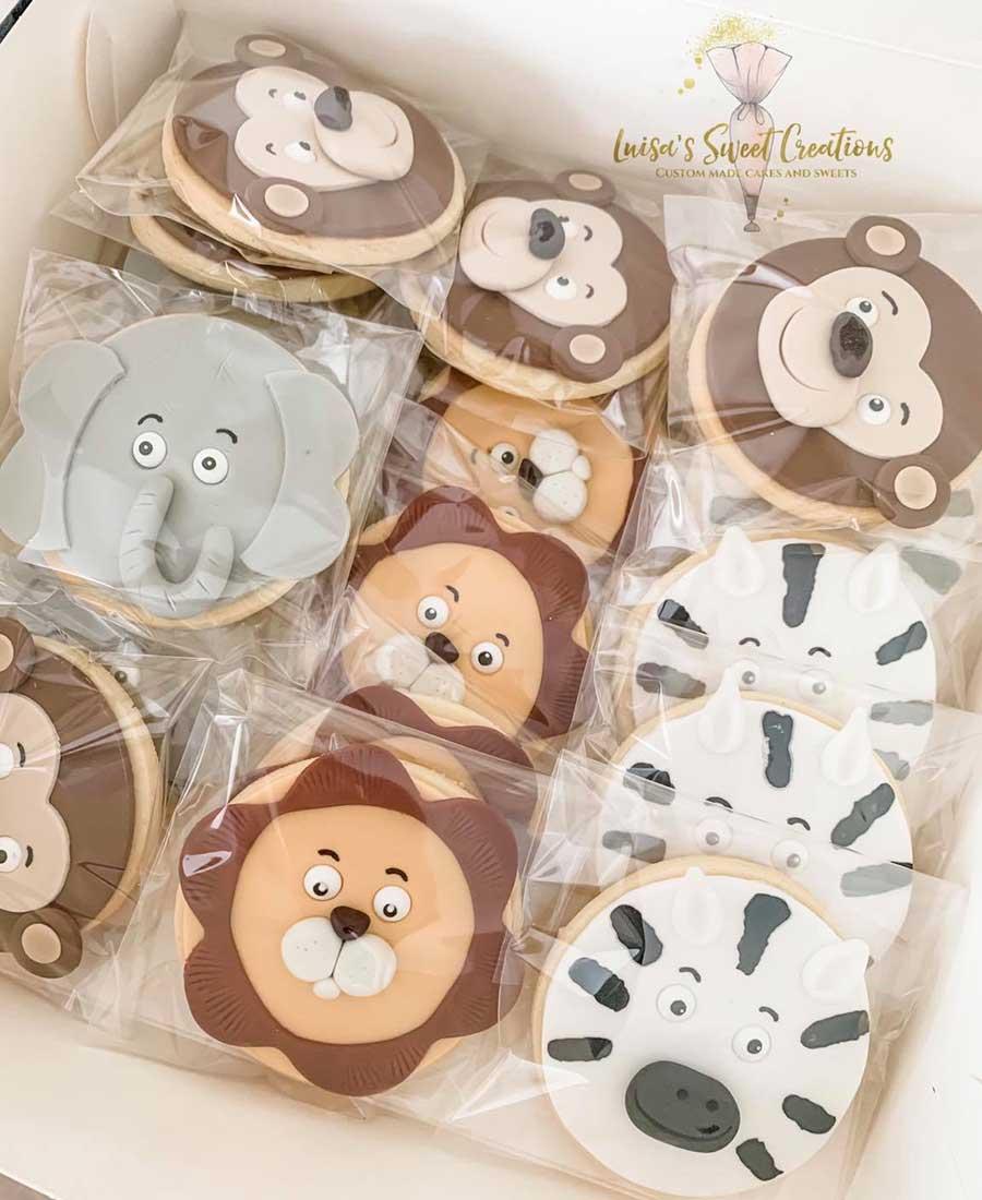 Jungle animalcookies Brisbane by Luisas Sweet Creations