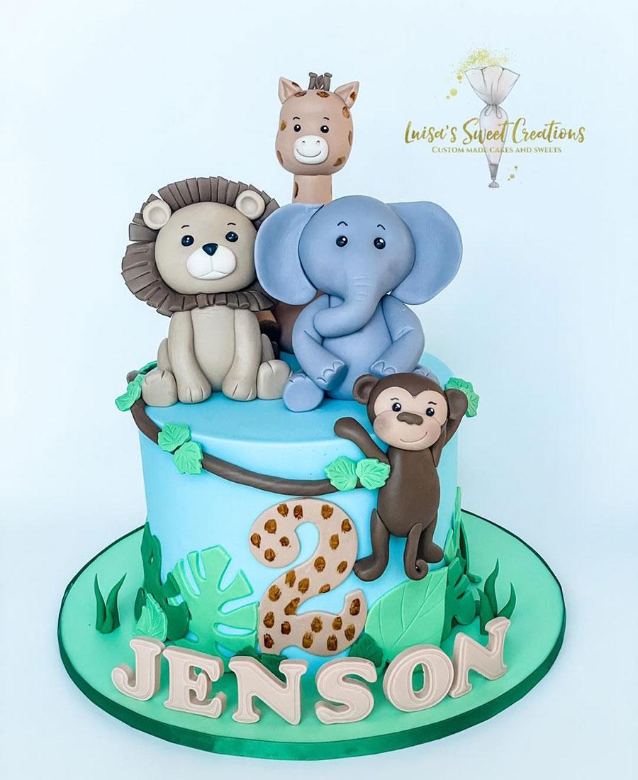 Jungle animal safari cakeBrisbane by Luisa's Sweet Creations Moggill