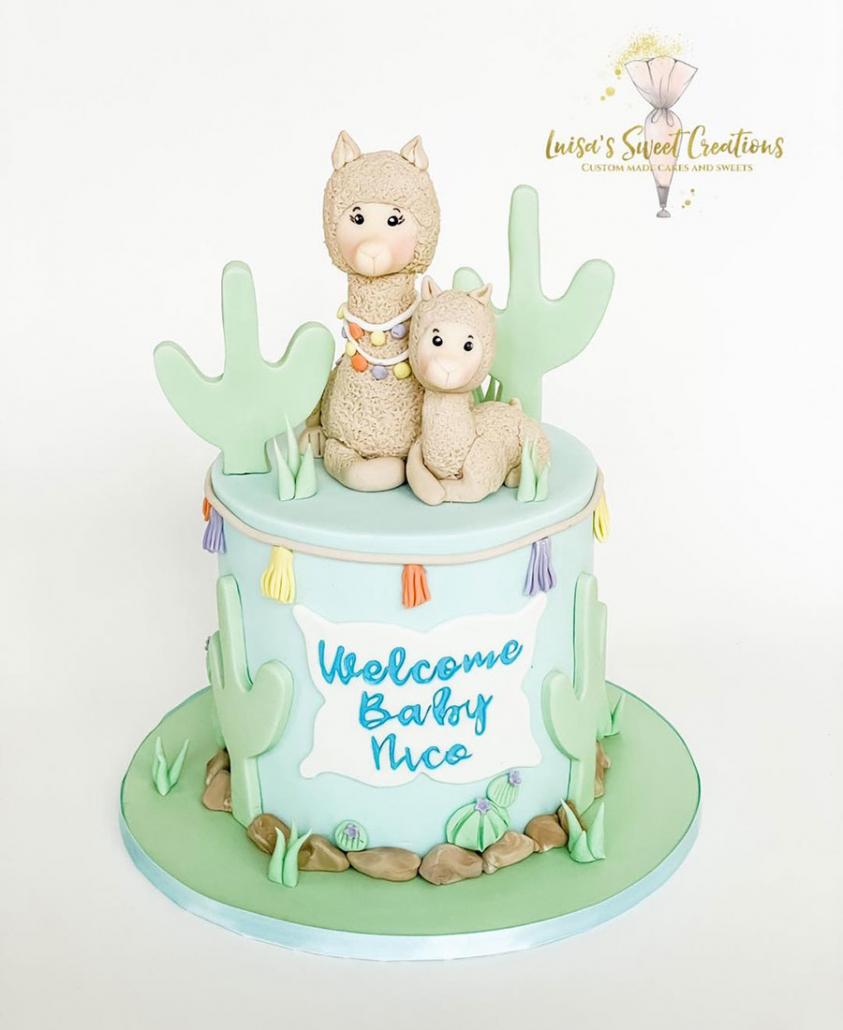 Mum and baby Llama cake by Luisa Nodari