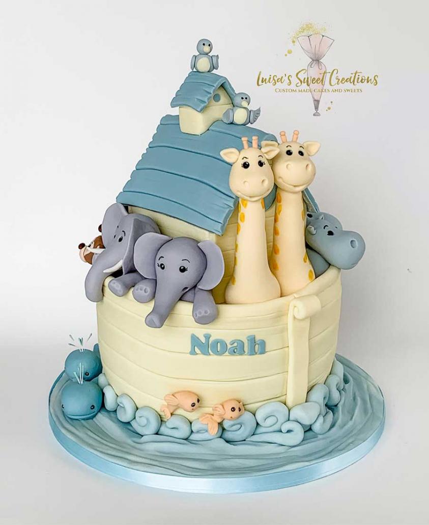 Noahs Ark Birthday Cake by Luisa's Sweet Creations