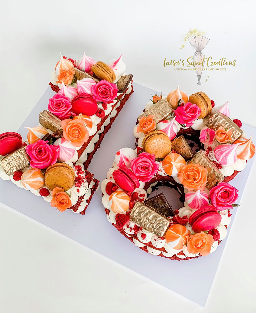 Number 18 Birthday Cakeby Luisa's Sweet Creations Brisbane
