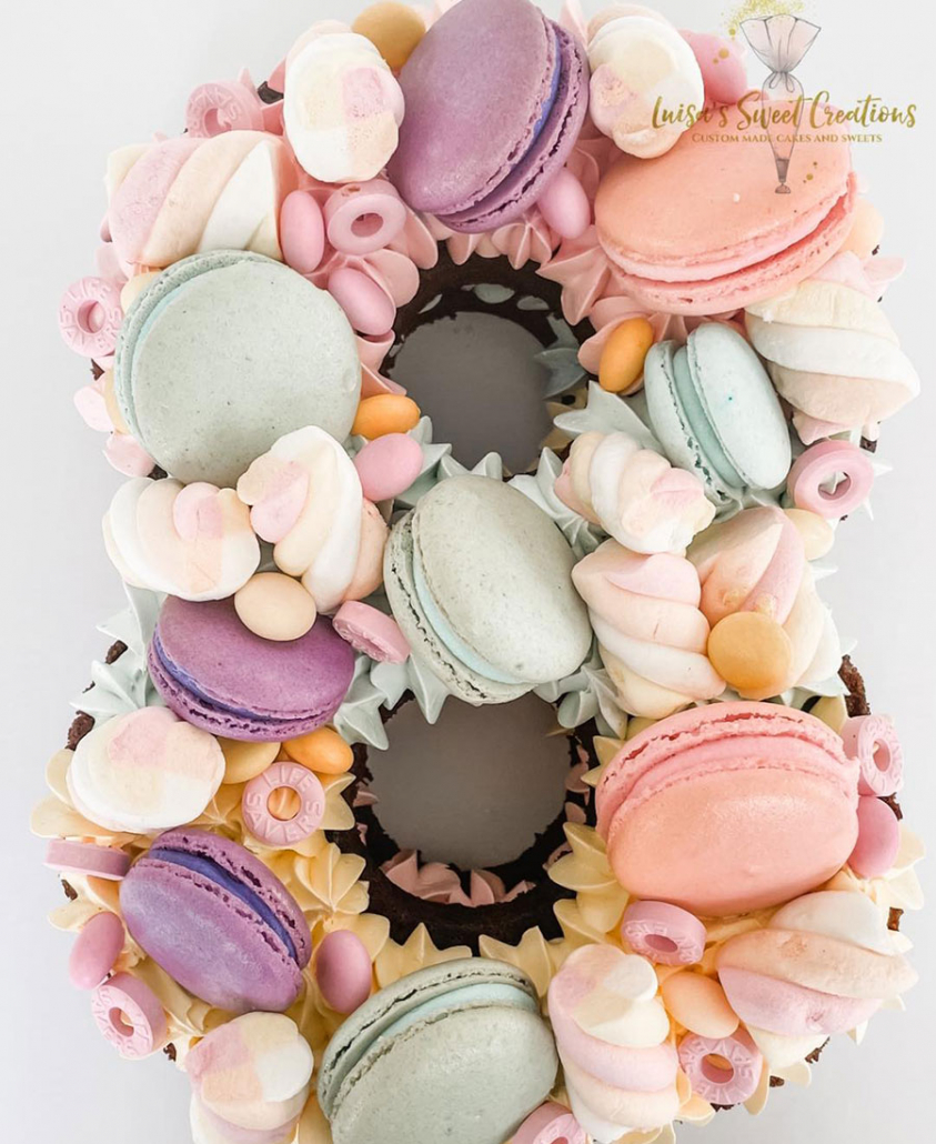 Number 8 birthday cakeBrisbaneby Luisa's Sweet Creations
