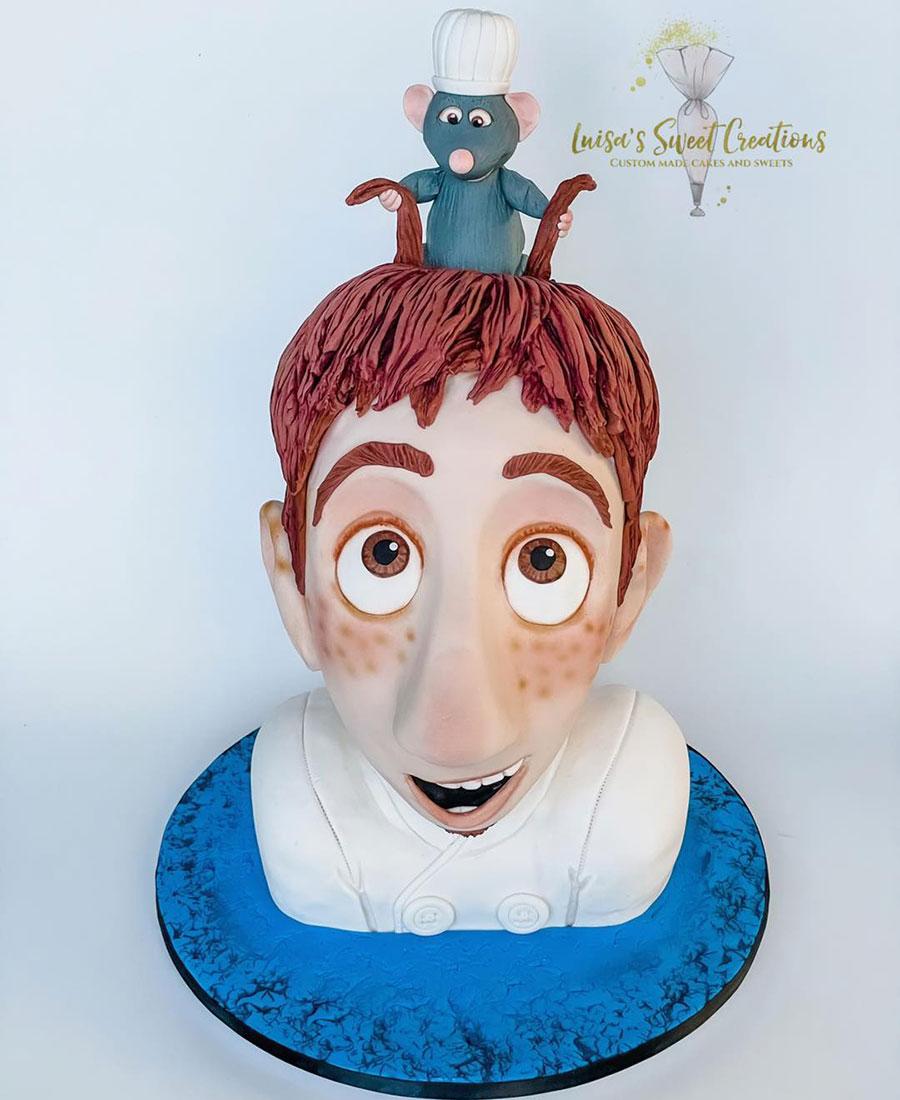 Ratatouille birthday cake three dimensional by Luisa's Sweet Creations Moggill