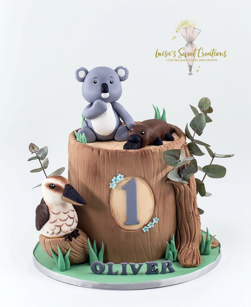 Australian animal themed birthday cake Brisbane by Luisa's Sweet Creations
