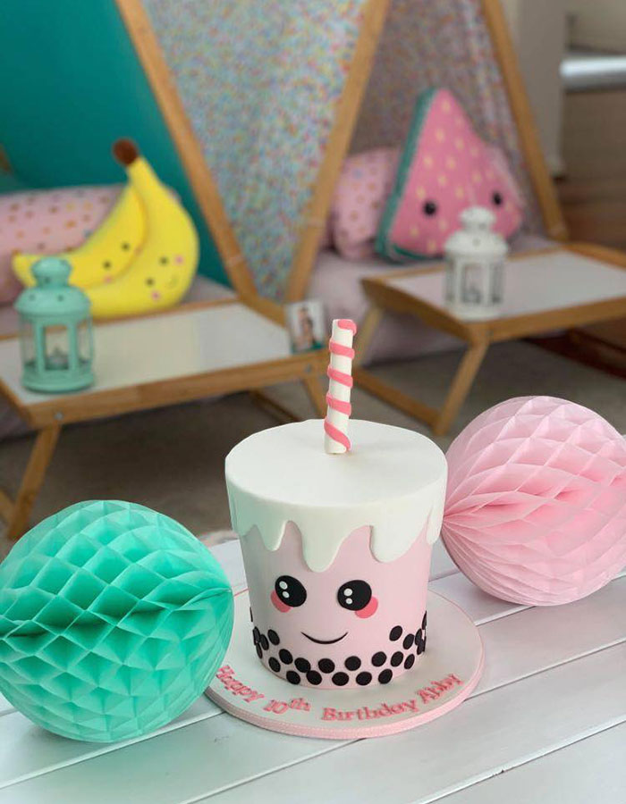 Little Big Parties Brisbane with cake by Luisa's Sweet Creations