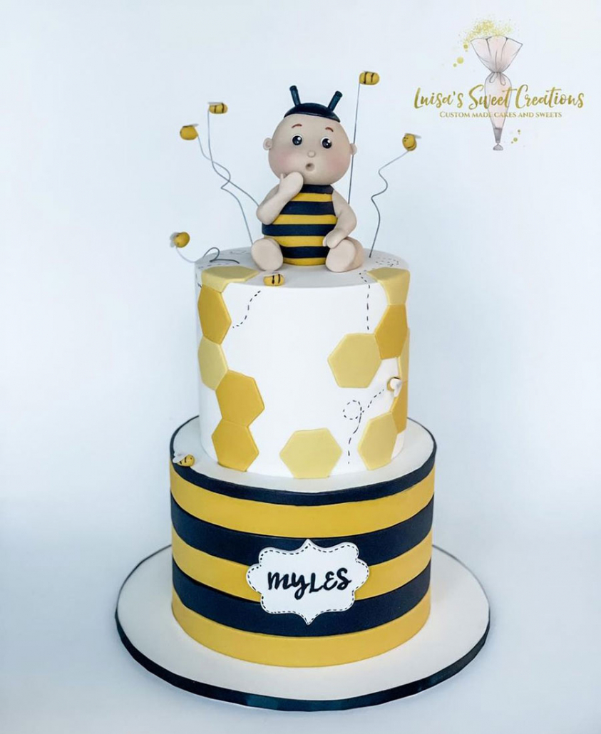 First Bee Day Cake Brisbane by Luisas Sweet Creations