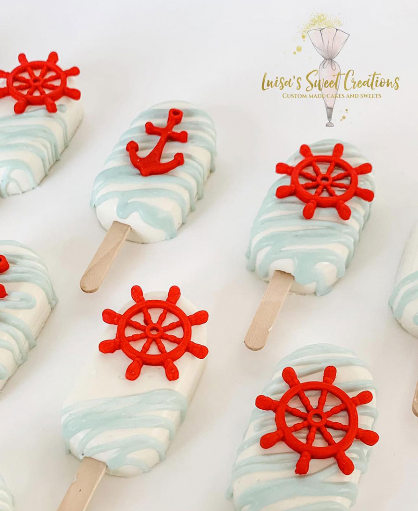 Nautical themed cakesicles by Luisas Sweet Creations Moggill