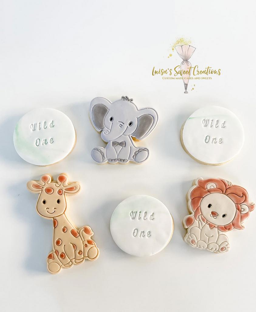 Birthday cookies for 1st birthday by Luisas Sweet Creations Brisbane