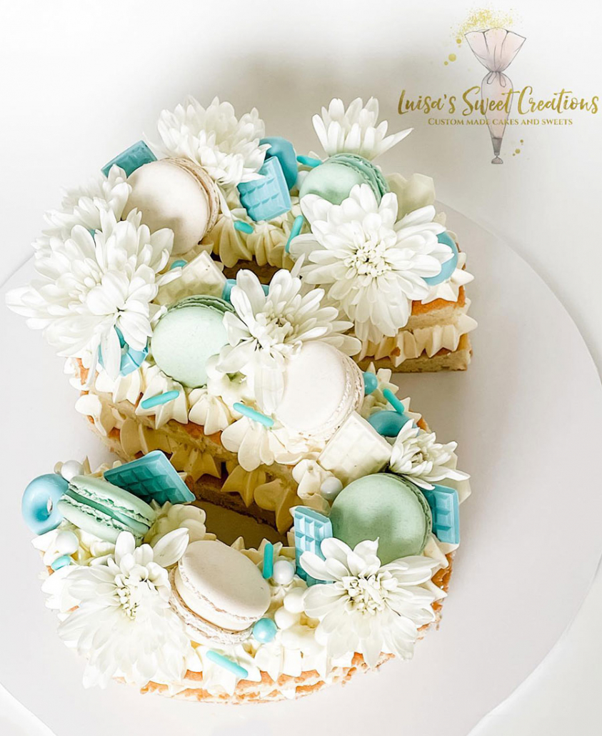 Letter S Birthday Cake Brisbane by Luisas Sweet Creations